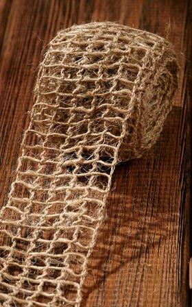 Wstążka jutowa 5 cm/ 5  m naturalna